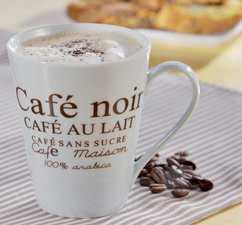 Kaffeetasse für Bewertung
