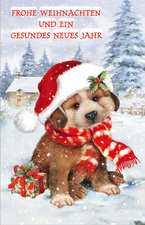 Weihnachtskarte Hund