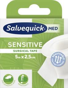 CEDERROTH Salvequick MED Fixierpflaster sensitiv, 25mm x 5m