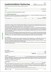 RNK Verlag Landwirtschaftlicher Pachtvertrag, 4-seitig