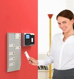 PAPERFLOW Wandhalter für Mitarbeiterkarten, 24 Fächer