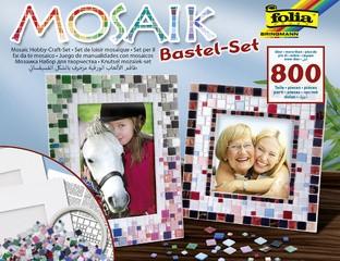 folia Mosaik-Bastelset, über 800 Teile, inkl. 2 Bilderrahmen