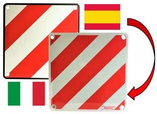 IWH Warntafel 2in1, 500 x 500 mm, weiß / rot