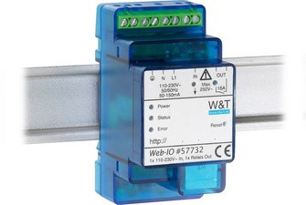 W&T Web-IO, 4.0 Digital, 1 x 230V In, 1 x Relais Out