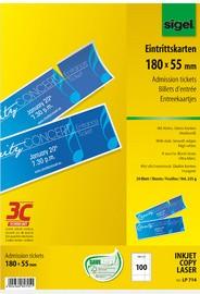 sigel Eintrittskarten, 180 x 55 mm, bedruckbar, hochweiß