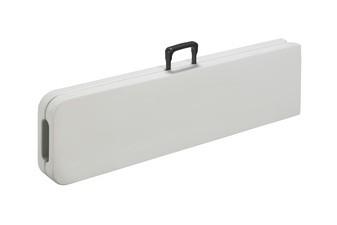 SODEMATUB Klapp-Sitzbank aus Kunststoff, lichtgrau