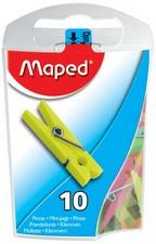 Maped Mini-Wäscheklammern, farbig sortiert, in Spenderdose