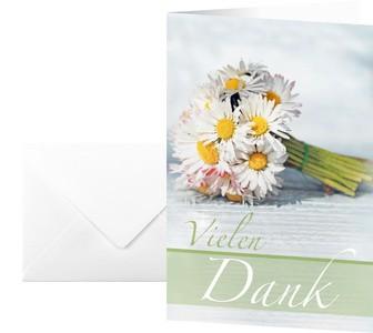 """sigel Danksagungskarte """"Vielen Dank"""", (B)115 x (H)170 mm"""