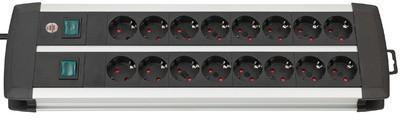 brennenstuhl Steckdosenleiste Premium-Duo-Alu-Line, 16-fach